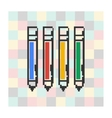 pixel icon pen on a square background vector image