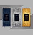 premium vintage vertical cards or banners vector image