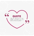 Quote in the form of heart vector image