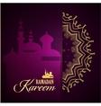 ramadan kareem greeting ornate background vector image