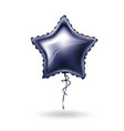 realistic star shape balloon with lace vector image vector image