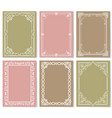 retro style vintage frames set ornamental graphic vector image vector image