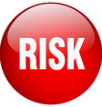 risk red round gel isolated push button vector image vector image