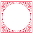 scandinavian folk greeting card pattern vector image