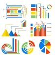 Set isolated icons charts vector image vector image