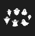 set of cute ghost creation kit changeable face vector image