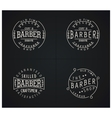 Set of four retro emblems for Barber Shop vector image