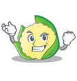 successful cauliflower character cartoon style vector image vector image