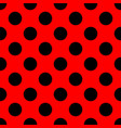 tile pattern with black polka dots on red vector image vector image