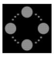 white halftone circular relations icon vector image vector image