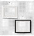 white picture frame set isolated transparent vector image