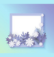 winter banner with blank vector image vector image