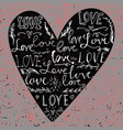 valentines card with line heart and love phrase vector image