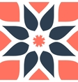 Stylized oriental flower seamless tile for vector image