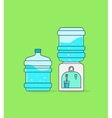 Water cooler dispenser bottle with waves vector image