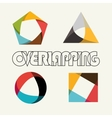 Abstract multicolored overlapping geometric vector image vector image
