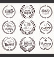 bakery laurel wreath collection vector image