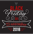big sale black friday up to 75 percent off logo vector image vector image