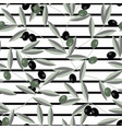black and green olive and stripes seamless pattern vector image vector image