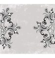 black and white paisley ornament vector image