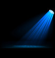 blue spotlights on dark background vector image