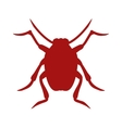 Bug icon beetle isolated on white background vector image vector image