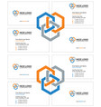 business card construction industry light vector image vector image