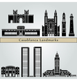 Casablanca landmarks and monuments vector image