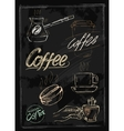 chalk coffee vector image vector image