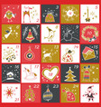 christmas advent calendar winter holidays poster vector image vector image