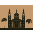 City buildings graphic template St Istvan