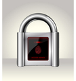 Closed padlock with touch Screen vector image vector image