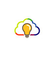 colorful abstract cloud idea logo vector image