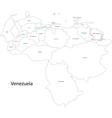Contour Venezuela map vector image vector image