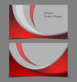 corporate cards templates vector image vector image