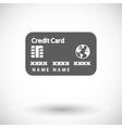 Credit card single flat icon vector image vector image