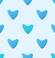 cute blue seamless pattern tiling made hearts vector image