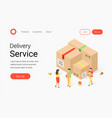 delivery service isometric concept vector image