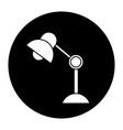 desk lamp electric bulb light element vector image vector image