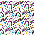 doodle music seamless pattern with headphones and vector image vector image
