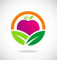 eco vegetarian fruit logo vector image
