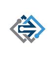 encrypted data cyber security logo design vector image vector image