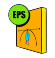 eps file icon cartoon vector image vector image