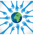every hand save the earth vector image