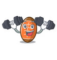 fitness rugby ball character cartoon vector image vector image