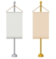 Flag Stand vector image vector image