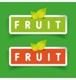 Fruit label set vector image