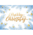 gold christmas card lettering on white background vector image vector image