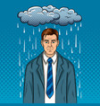 guy with bad mood pop art vector image vector image