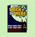 halloween party invitation flyer editable vector image vector image